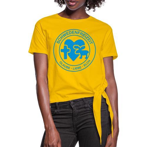 Schwedenfreizeit Logo - Frauen Knotenshirt