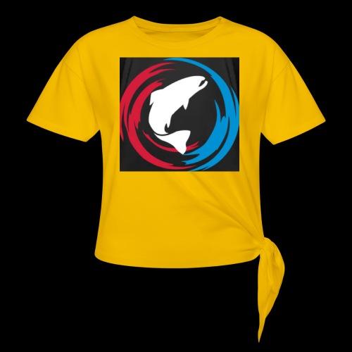 Logo Fisk - T-shirt med knut