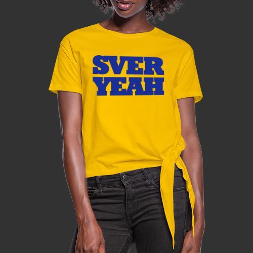 SVERYEAH GulBlå - T-shirt med knut dam