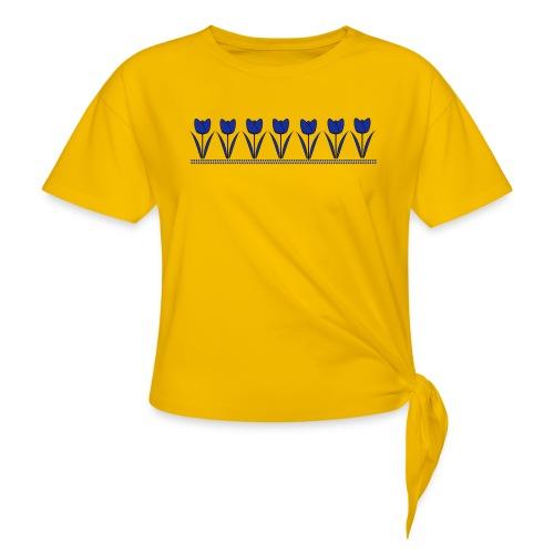 tulpen - Vrouwen Geknoopt shirt