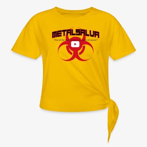 METALSALVA Cancer #1 - Maglietta annodata da donna