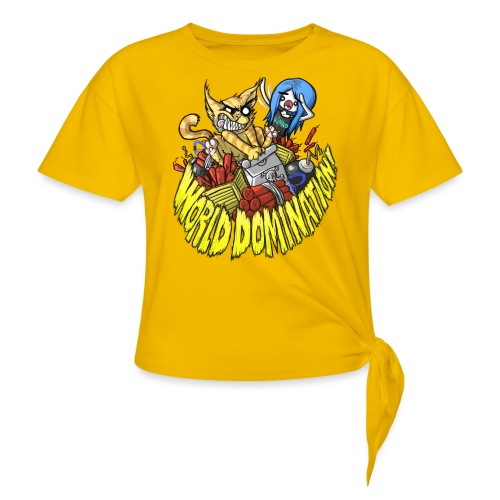 WORLD DOMINATION - Women's Knotted T-Shirt