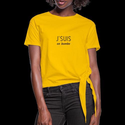 en bombe - T-shirt à nœud Femme