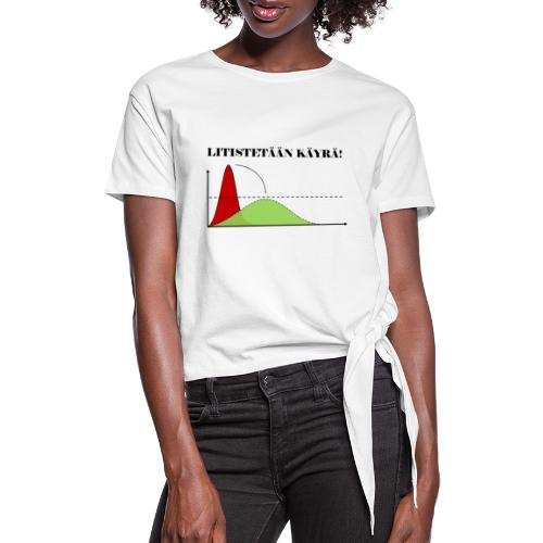 Flatten the curve - Women's Knotted T-Shirt