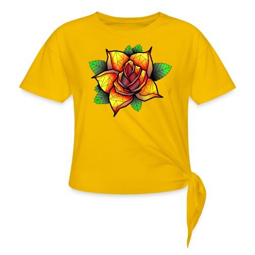 rose - T-shirt à nœud Femme