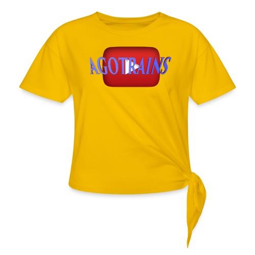 AGOTRAINS - Maglietta annodata da donna