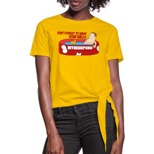 Don´t forget to wash your Balls - Frauen Knotenshirt