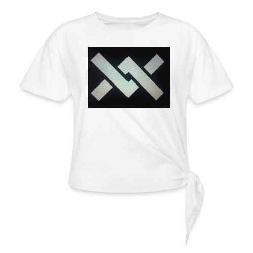 Original Movement Mens black t-shirt - Women's Knotted T-Shirt