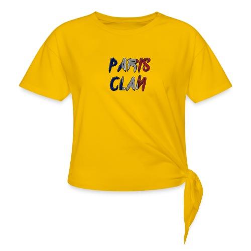 Parisclan Lettering - Women's Knotted T-Shirt