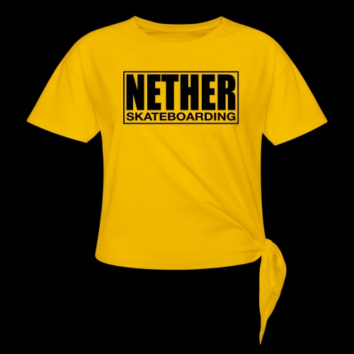 Nether Skateboarding T-shirt White - Maglietta annodata da donna