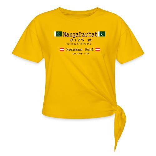 NangaPArbat20-01Black - Maglietta annodata