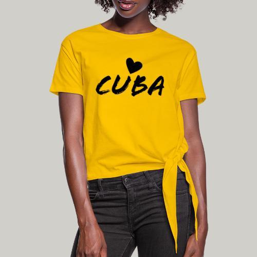 Cuba Herz - Frauen Knotenshirt