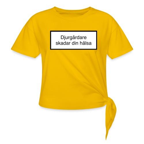 Djurgården Varningstext - T-shirt med knut dam