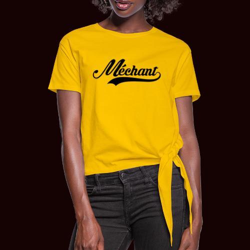 mechant_logo - T-shirt à nœud Femme