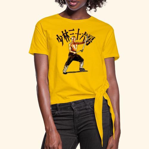 Shaolin Warrior Monk - 3 Section Staff - Vrouwen Geknoopt shirt