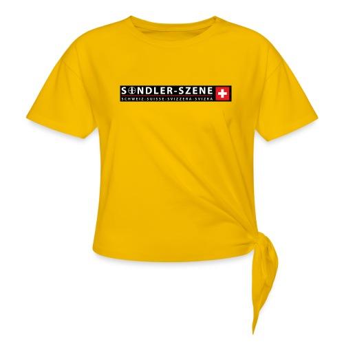 Logo schwarz - Frauen Knotenshirt