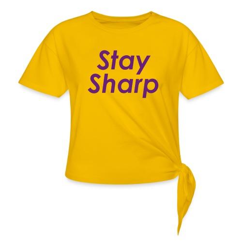 Stay Sharp - Maglietta annodata da donna