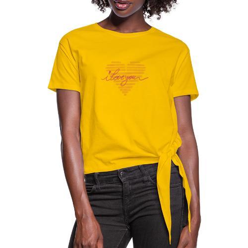 In kalk letters - T-shirt à nœud
