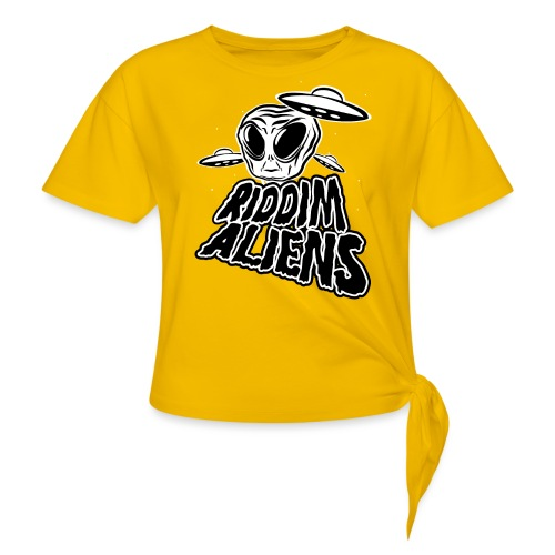 Riddim Aliens (Black Design) - Knotted T-Shirt