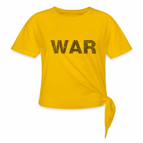 Napis stylizowany War and Peace - Koszulka z wiązaniem