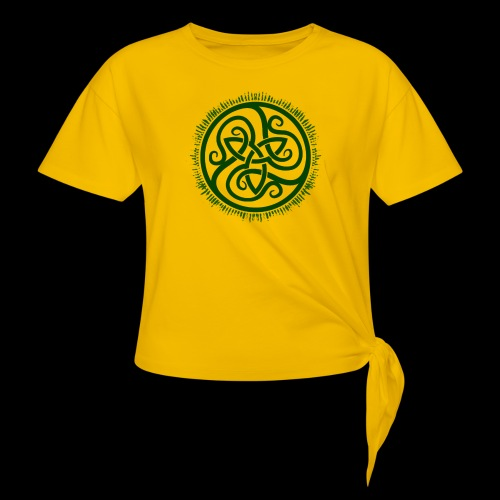 Green Celtic Triknot - Women's Knotted T-Shirt