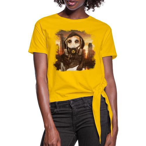 Cane Apocalittico #2 - Maglietta annodata da donna
