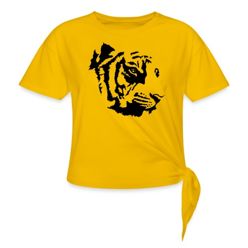 Tiger head - T-shirt à nœud