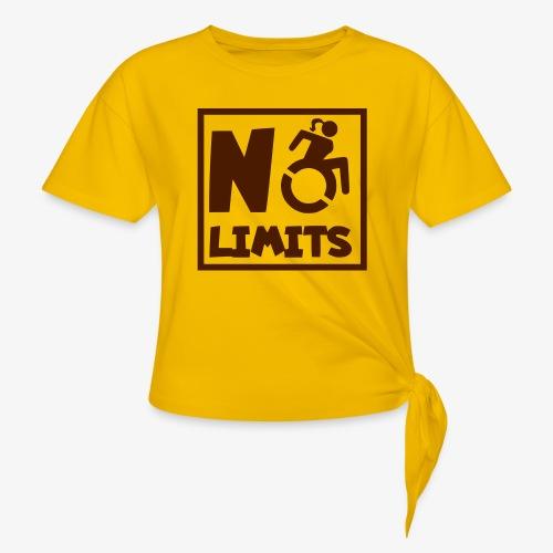 Geen grenzen voor deze dame in rolstoel - Vrouwen Geknoopt shirt