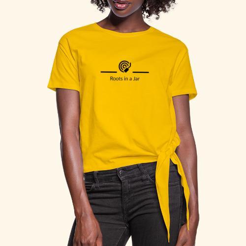 Roots in a jar logo - T-shirt med knut dam