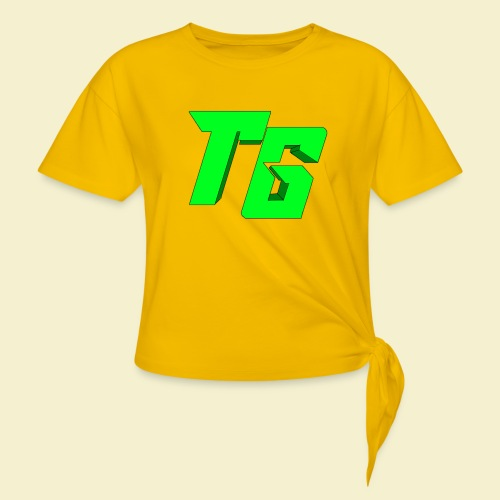 TristanGames logo merchandise [GROOT LOGO] - Vrouwen Geknoopt shirt