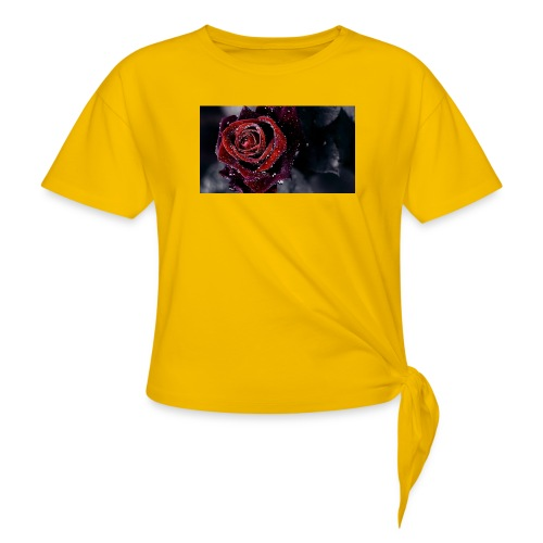rose tank tops and tshirts - Knotted T-Shirt