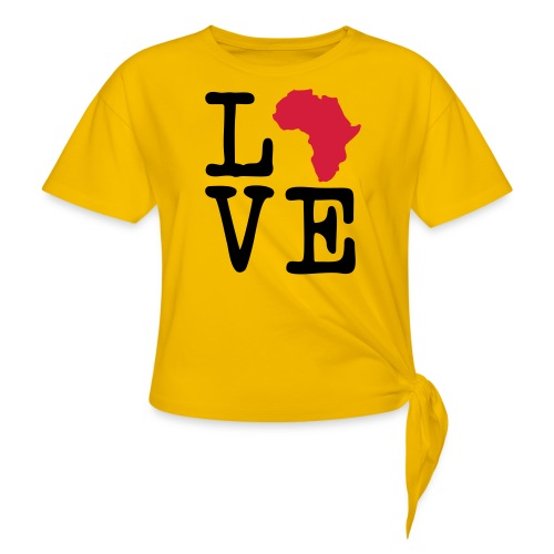 I Love Africa, I Heart Africa - Knotted T-Shirt