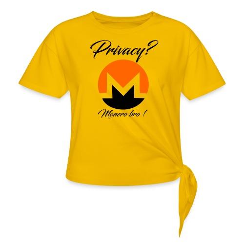 Moneroooo - T-shirt à nœud Femme