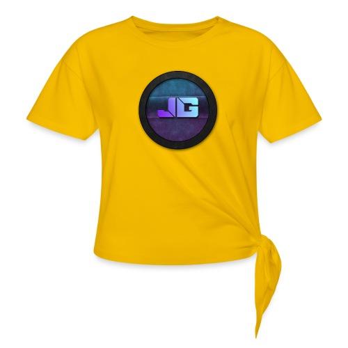 shirt met logo - Vrouwen Geknoopt shirt