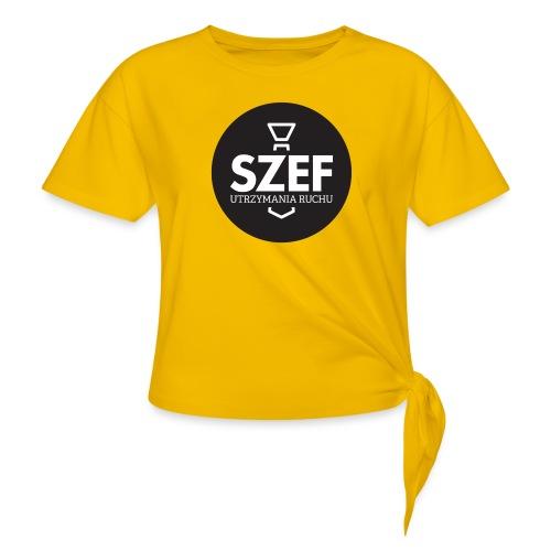 Logo-szef-utrzymania-ruchu_ok_net_black - Koszulka damska z wiązaniem