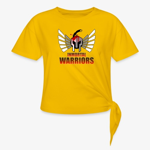 The Inmortal Warriors Team - Women's Knotted T-Shirt