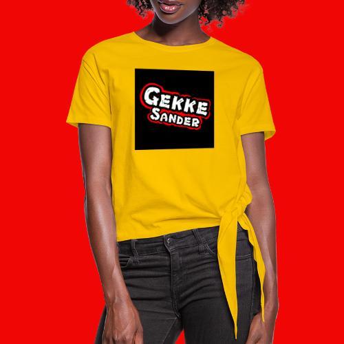 GekkeSander Logo - Vrouwen Geknoopt shirt