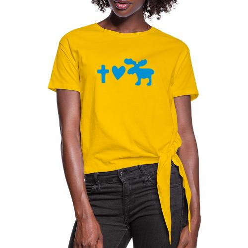 Glaube, Liebe, Elch! - Frauen Knotenshirt