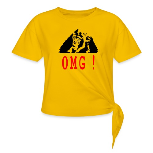 OMG monkey - T-shirt à nœud