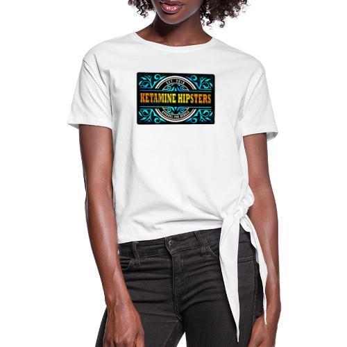 Black Vintage - KETAMINE HIPSTERS Apparel - Women's Knotted T-Shirt