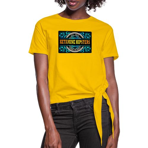 Black Vintage - KETAMINE HIPSTERS Apparel - Women's Knotted T-Shirt