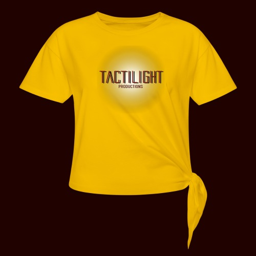 Tactilight Logo - Women's Knotted T-Shirt