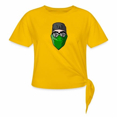 GBz bandana logo - Women's Knotted T-Shirt