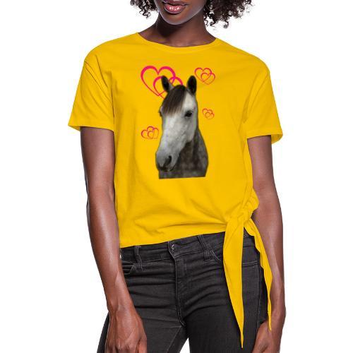 Hästälskare (Pilot) - T-shirt med knut dam