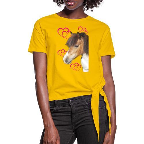 Hästälskare (Bella) - T-shirt med knut dam