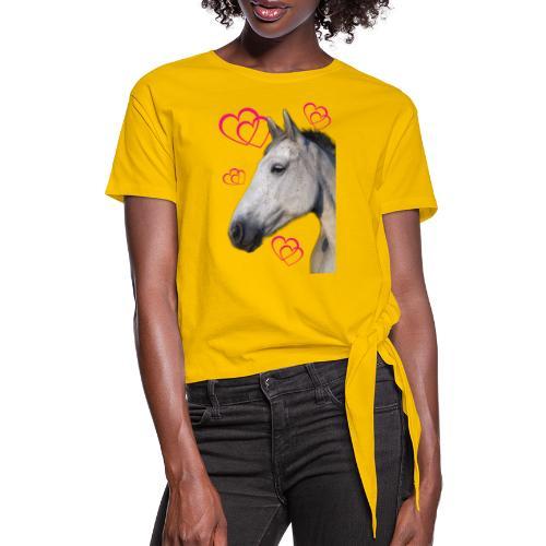 Hästälskare (maya) - T-shirt med knut dam