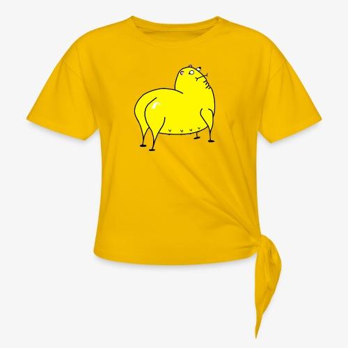 Grunk - T-shirt med knut dam