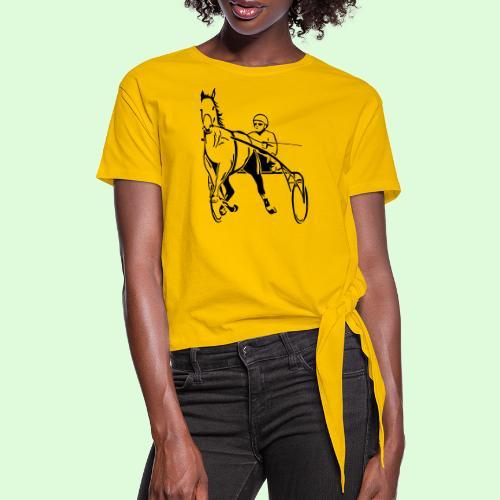 Les Trotteurs - T-shirt à nœud Femme