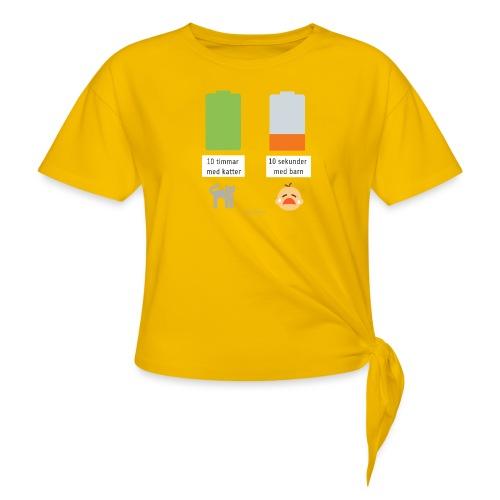 Livsbatteriet KATT - T-shirt med knut dam