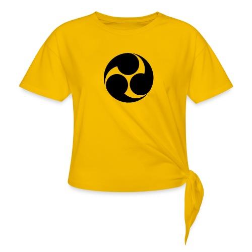 Kobayakawa Mon Japanese clan black - Women's Knotted T-Shirt